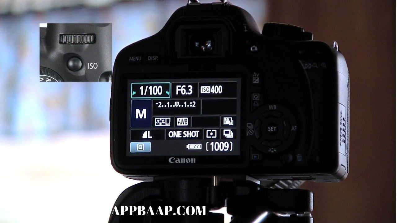 change in camera ISO and Shutter speed appbaap
