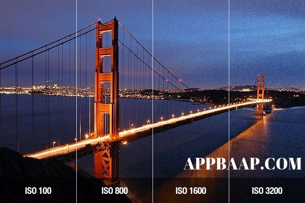How to change ISO from shutter-speed-aperture-iso-chart in DSLR- appbaap